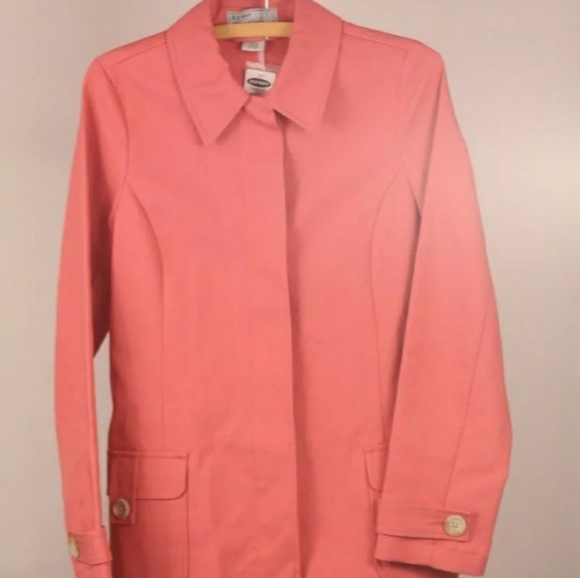 Old Navy Jackets & Blazers - NWOT Old Navy Coral Trench Coat XL